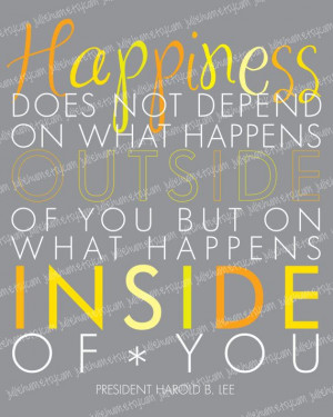 LDS Happiness Quote Subway Art POSTER by Harold B. Lee by juliehum, $4 ...