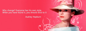 If you like Audrey Hepburn quote facebook cover photos ,give a flike ...