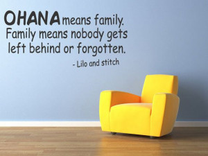 OHANA Means Family Lilo and Stich Quote by WallStickersDecals, $15.99