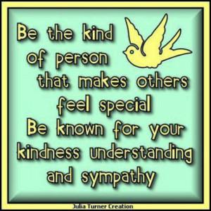 Kindness understanding sympathy