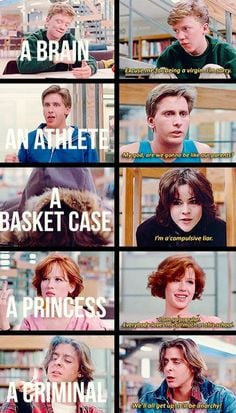 ... breakfast club movie, age movi, the breakfest club quotes, favorit