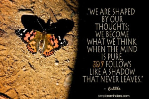 quote: we are shaped by our…   YourSaying