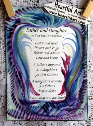 FATHER DAUGHTER Original POEM Inspirational Quote Family Home Decor ...