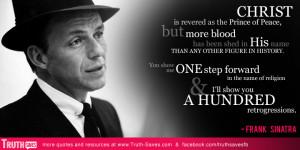Frank Sinatra atheist quote