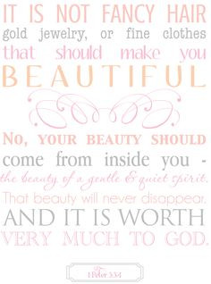 ... Jwelery Or Fine Clothes That Should Make You Beautiful - Bible Quote