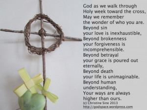 Prayer for Holy Week and Good Friday 2013