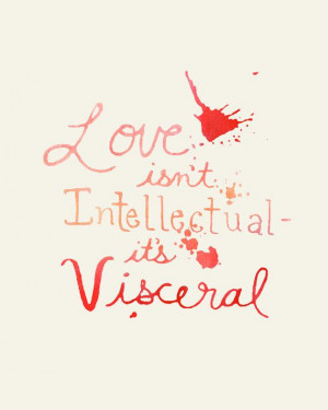 LOVE is visceral Valentine romantic quote card by MomeRathGarden, $4 ...