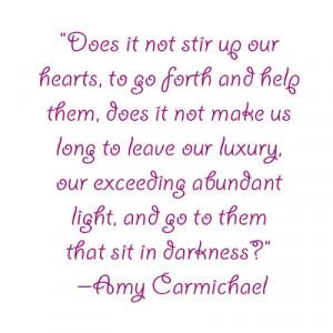 Quote: Amy Carmichael