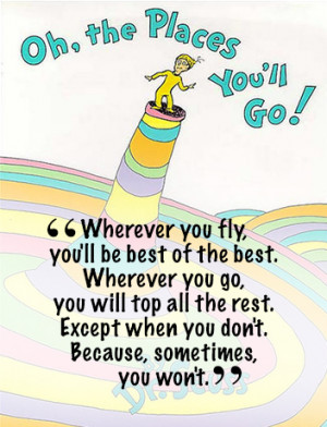 Dr Seuss Quotes OH the Places You Will Go By