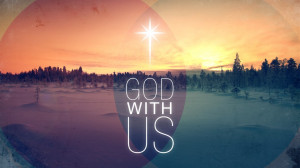 he is immanuel god with us god in us god for us