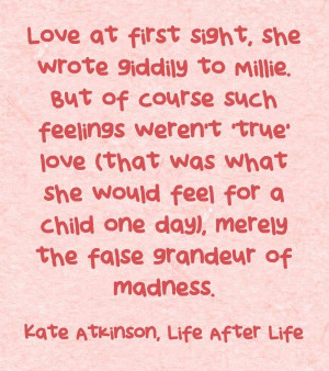 Love at first sight quote by #kateatkinson
