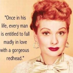 ... redhead.