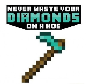 Minecraft quote from Instagram
