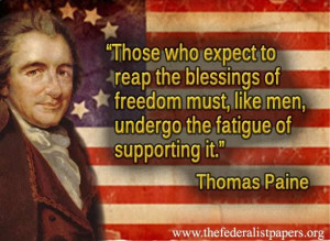 Thomas Paine quote.