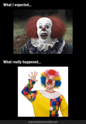 Dressing up as a scary clown