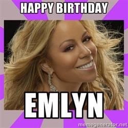 Happy Birthday Mariah Carey