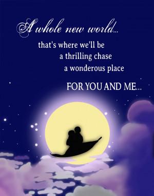 Disney Princess Whole new world...