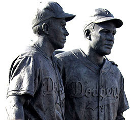 Jackie Robinson & Pee Wee Reese Sculpture by William Behrends