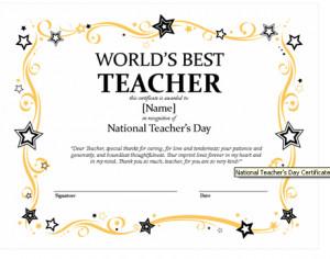 The World\x26#39;s Best Teacher Award