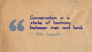 Conservation is a state of harmony between men and land ~ Environment ...