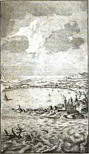 Engraving of Utopia from a 1730 French edition.