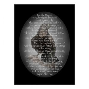 Edgar Allen Poe Raven Poem, Nevermore Quote Poster