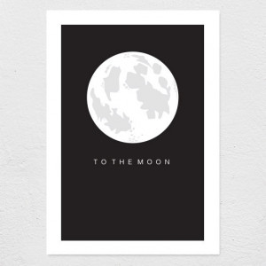 To The Moon - Dark - Catch Me If You Can Quote - Print // A4/A3/A2 ...