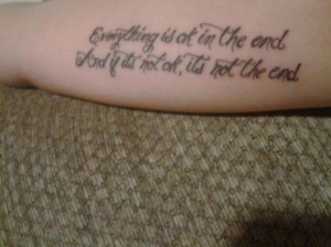 Beautiful Hand Tattoo Quote