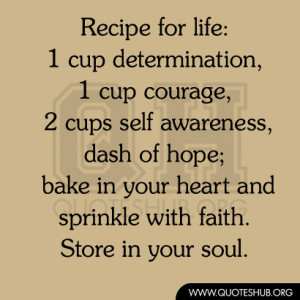 Recipe For Life Quotes Hub