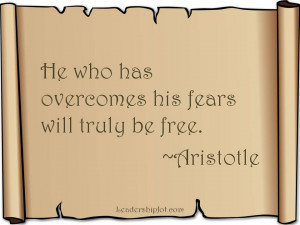 Aristotle Quote on Fear
