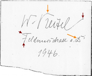 WILHELM KEITEL'S WRITING AT NUREMBERG : (age 64)