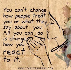 Control and reactions quote