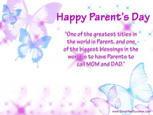 Download free Download Parents Day Wallpaper 2012