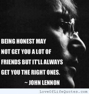 ... john lennon quote on being honest john lennon quote on honesty john