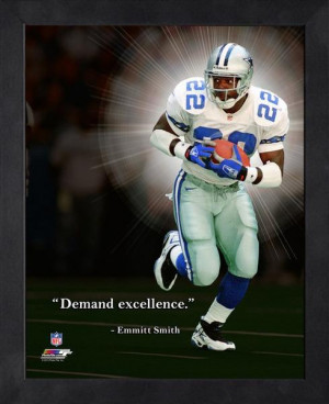Dallas Cowboys Emmitt Smith Framed Pro Quote