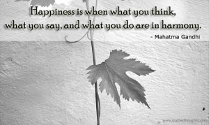 Happiness Quotes-Thoughts-Mahatma Gandhi-Harmony-Best Quotes