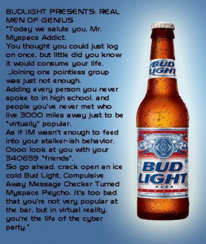 Party Bud Light Tag Code: