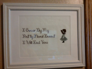 Firefly quote cross stitch. One of my favorite Mal Reynolds quotes ...