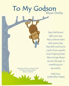 Godson gift Gift for Godson Personalized gift for by BoutiqueBlu More