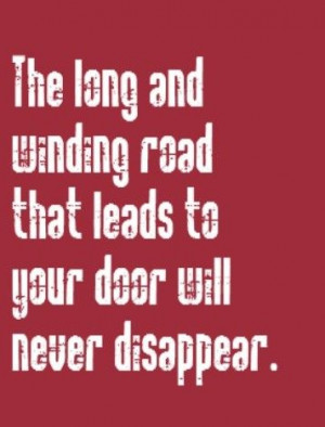 ... Winding Road - song lyrics, songs, music lyrics, song quotes, music