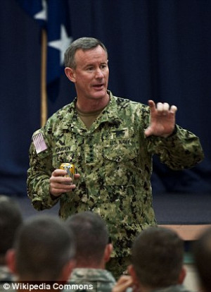 ... William McRaven, left, was a general, when in fact, he is an admiral