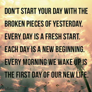 start of a new day, a new week, a new month and pretty close to a new ...
