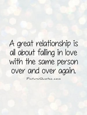 ... is all about falling in love with the same person over and over again
