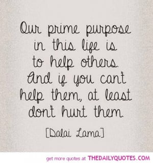 Our Prime Purpose In This Life…………