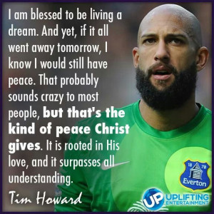 Tim Howard Amen!!!! The world needs more athlete like him! This was ...