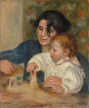 Pierre Auguste Renoir, Gabrielle And Jean.