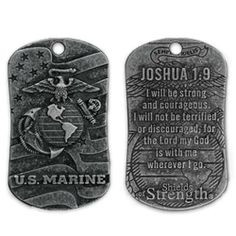 Sided, Dog Tags and Emblems with Bible Verses or Inspirational Quotes ...