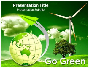 Go Green Quotes - Powerpoint Template #07517