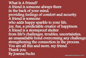 What is friend quote