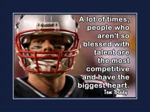 Tom Brady Patriots Photo Quote Poster Wall Art Print 5x7